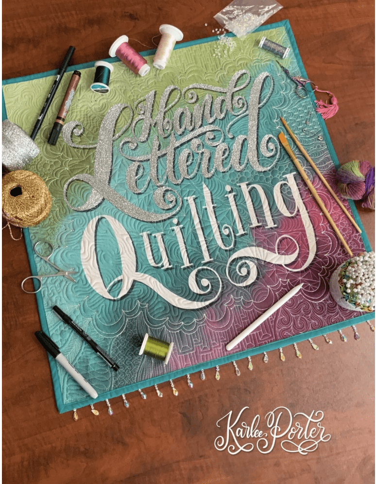 hand lettered quilting