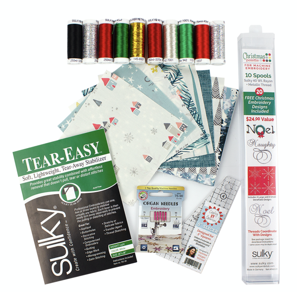 Winter Pinnacle Table Runner Kit contents