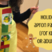 kid holiday apron pattern