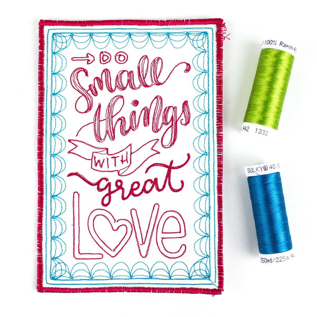 hand lettered quilt kit contents