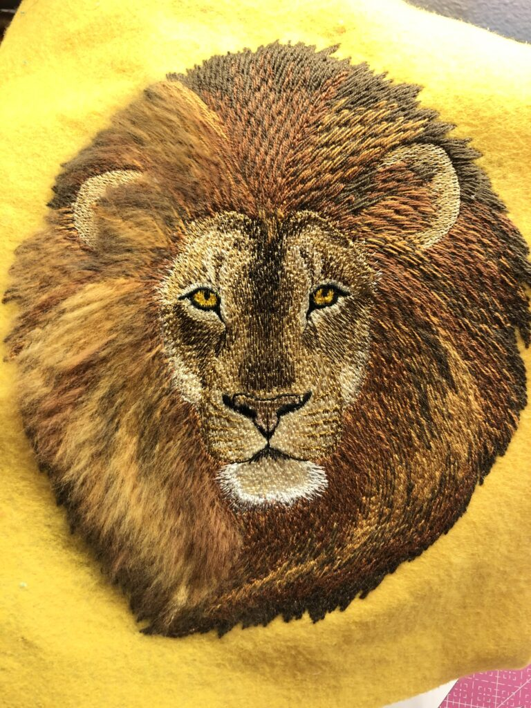 filaine brushed embroidery