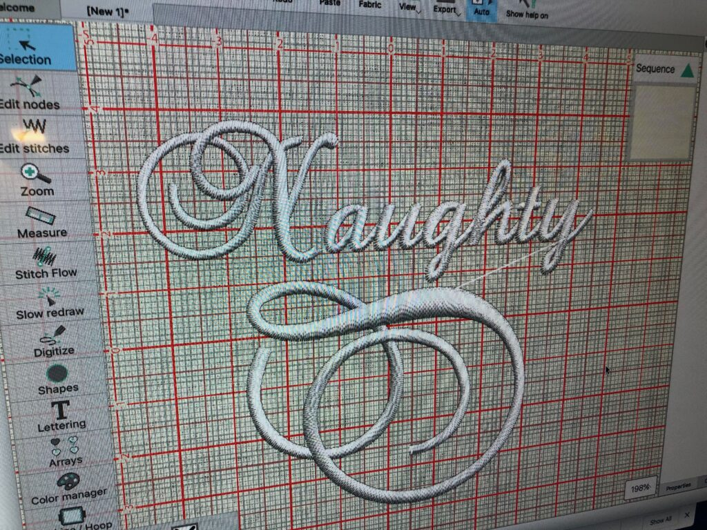 Original Embroidery Design for Editing