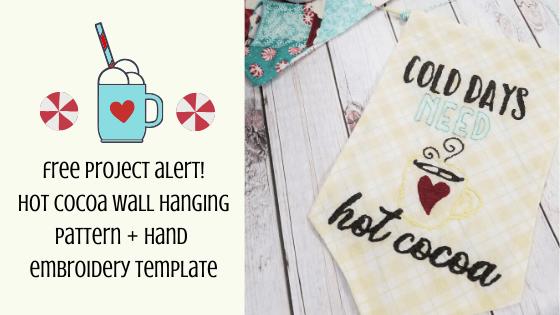 hot cocoa wall hanging