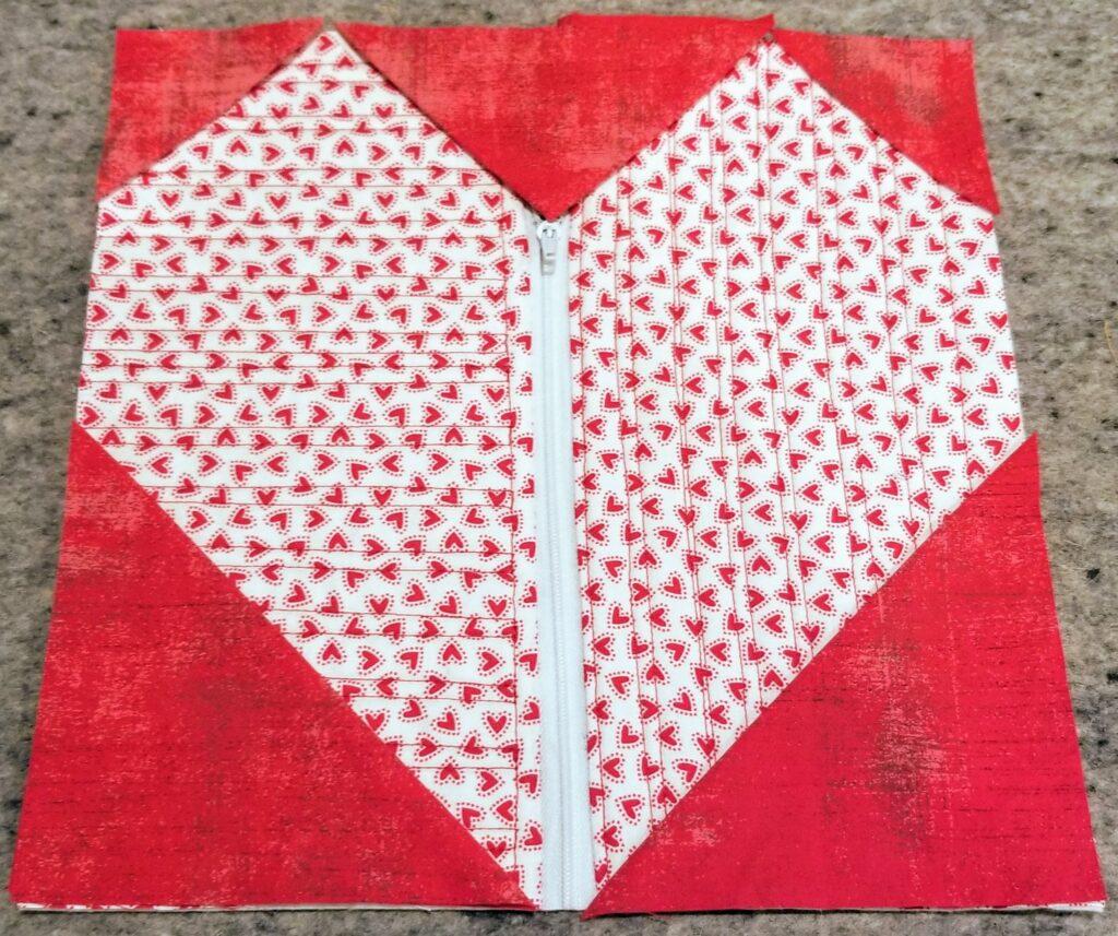 pieced heart closeup