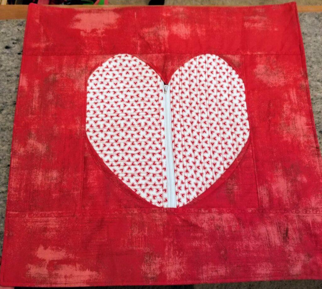 secret heart pillow front