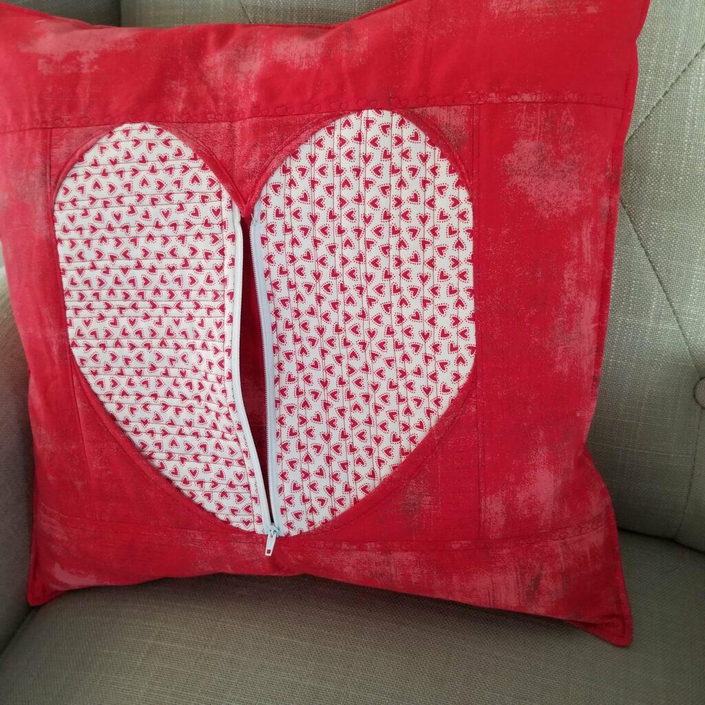 Secret Heart Pillow zippered front