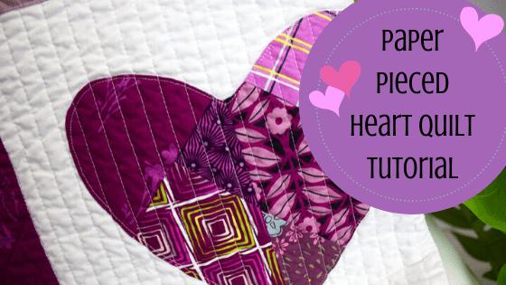 paper pieced heart quilt tutorial