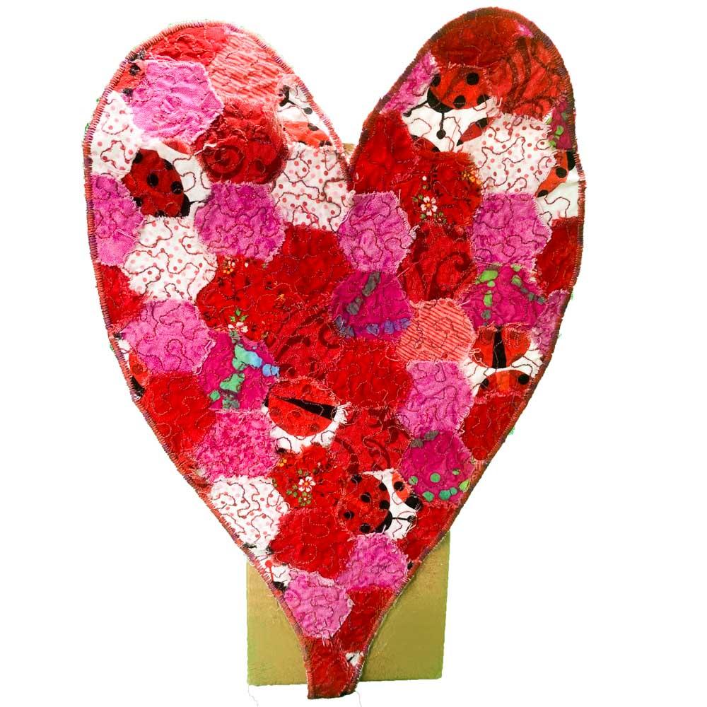 cutout crazy patch Valentine holder
