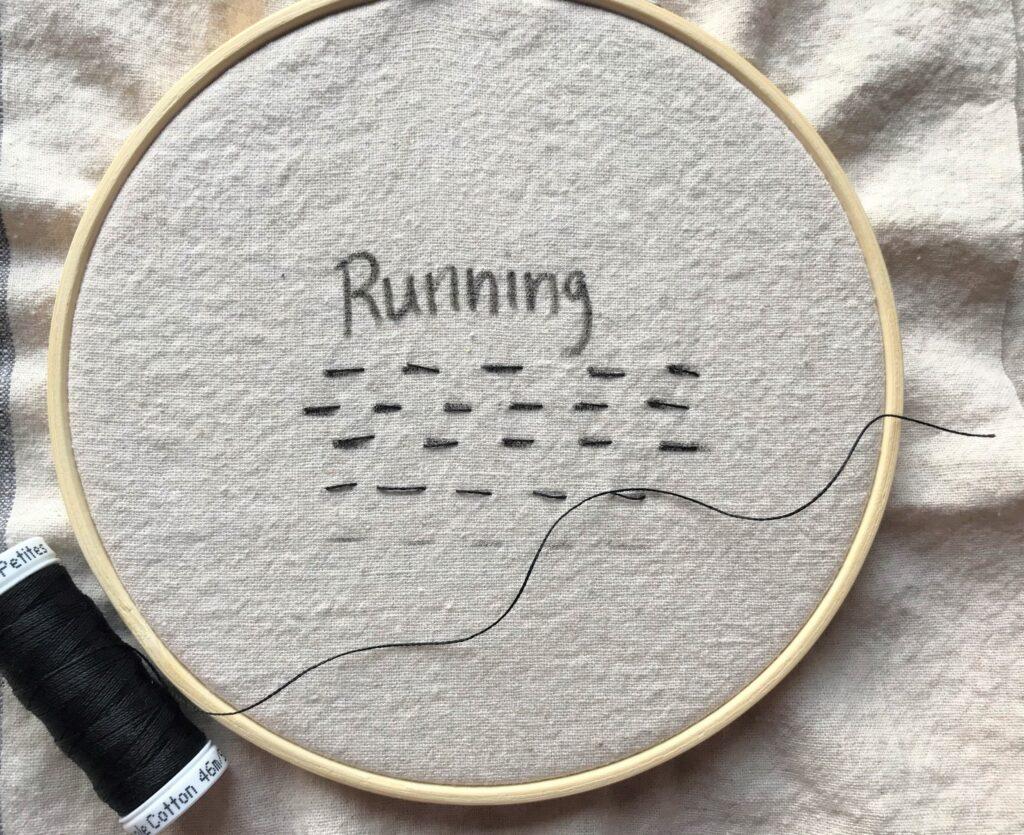 hand embroidery running stitch