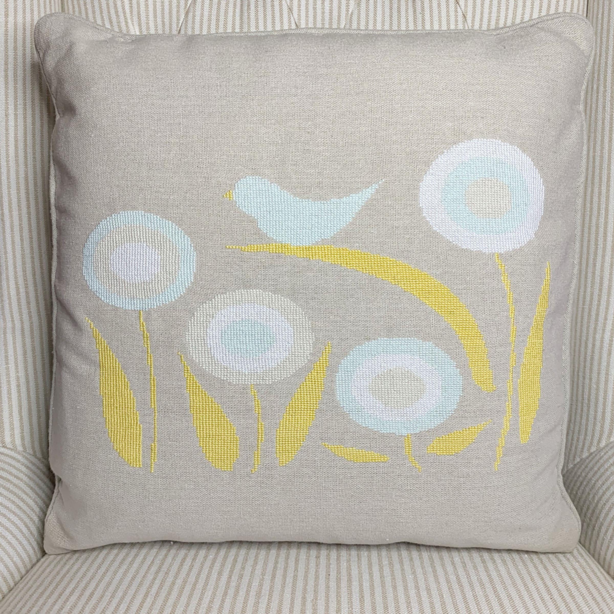 cross-stitch pillow