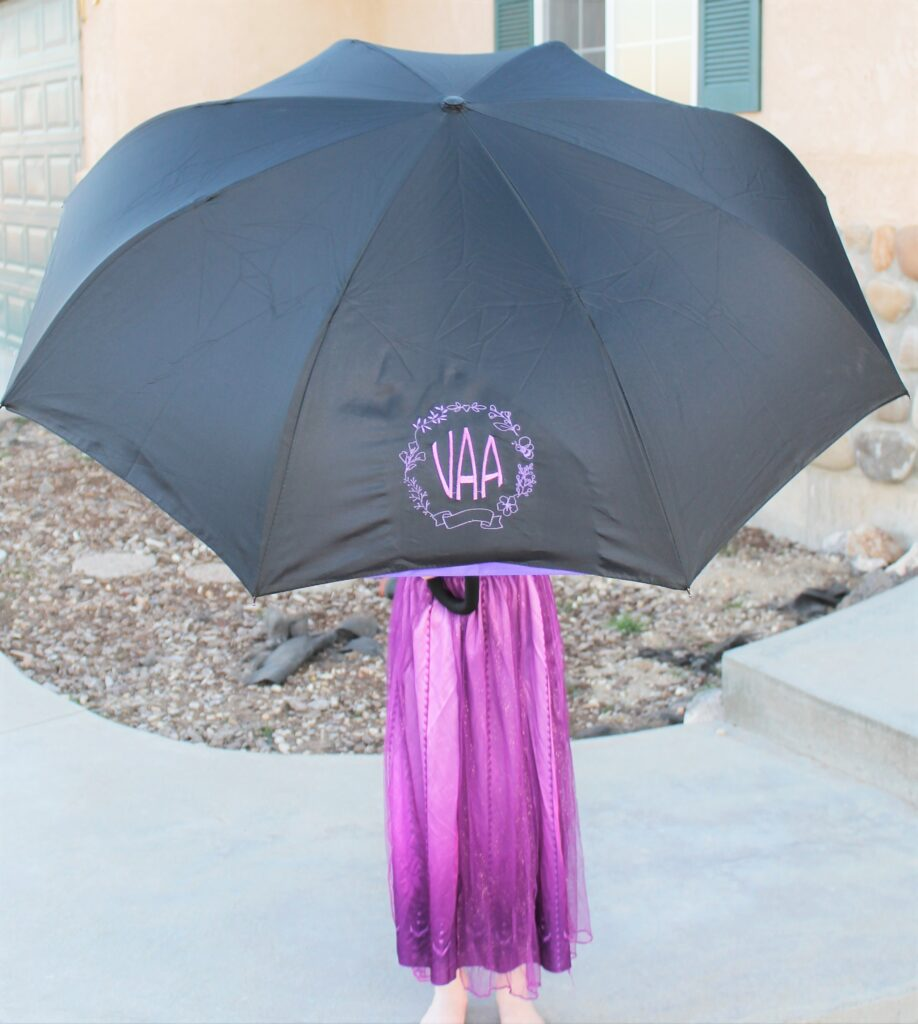 embroidered umbrella for mother's day