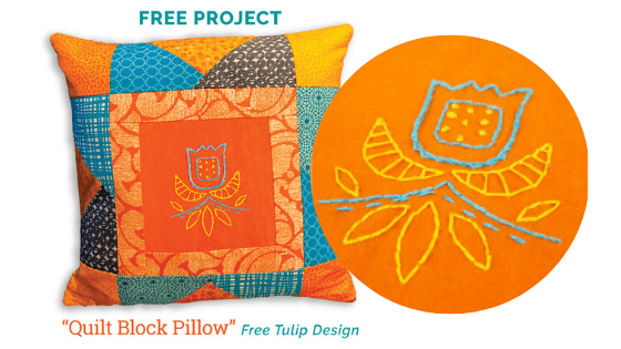 free quilt pillow project