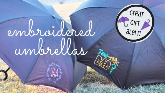 embroidered umbrellas
