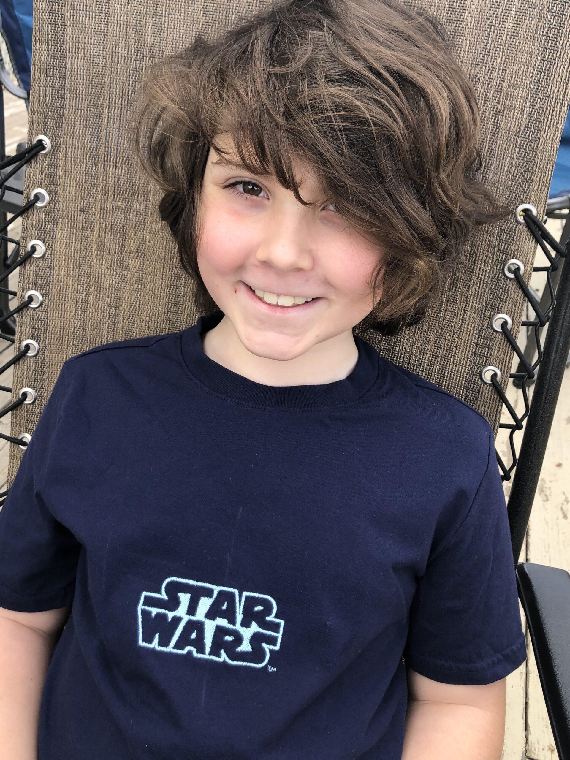 Star Wars finished T-shirt on model