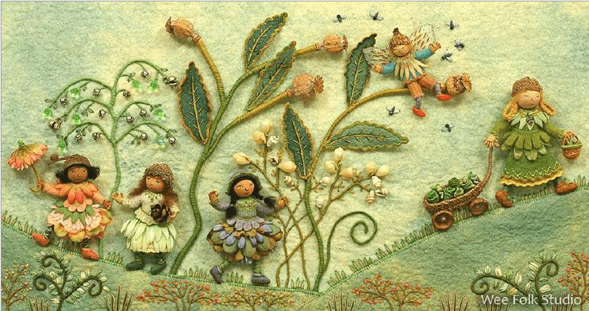 Sallie Mavor Embroidered artwork