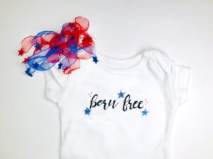 born free patriotic onesie