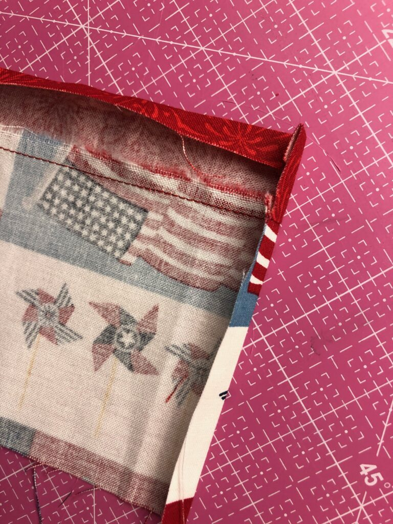 tea towel machine embroidery folding edges
