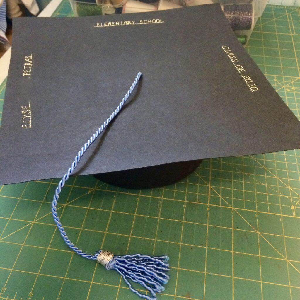 finished DIY graduation cap