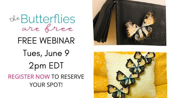 Butterflies in the Hoop Webinar