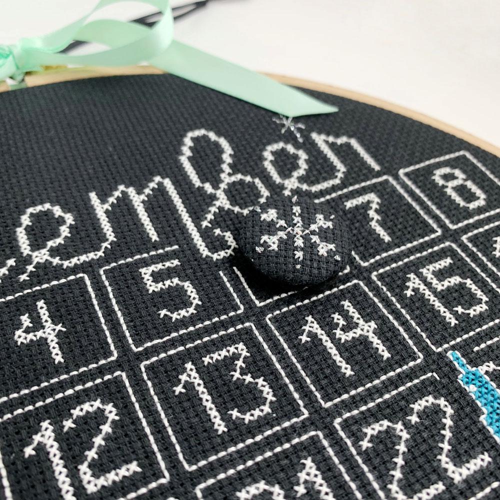 Cross-stitch Christmas calendar