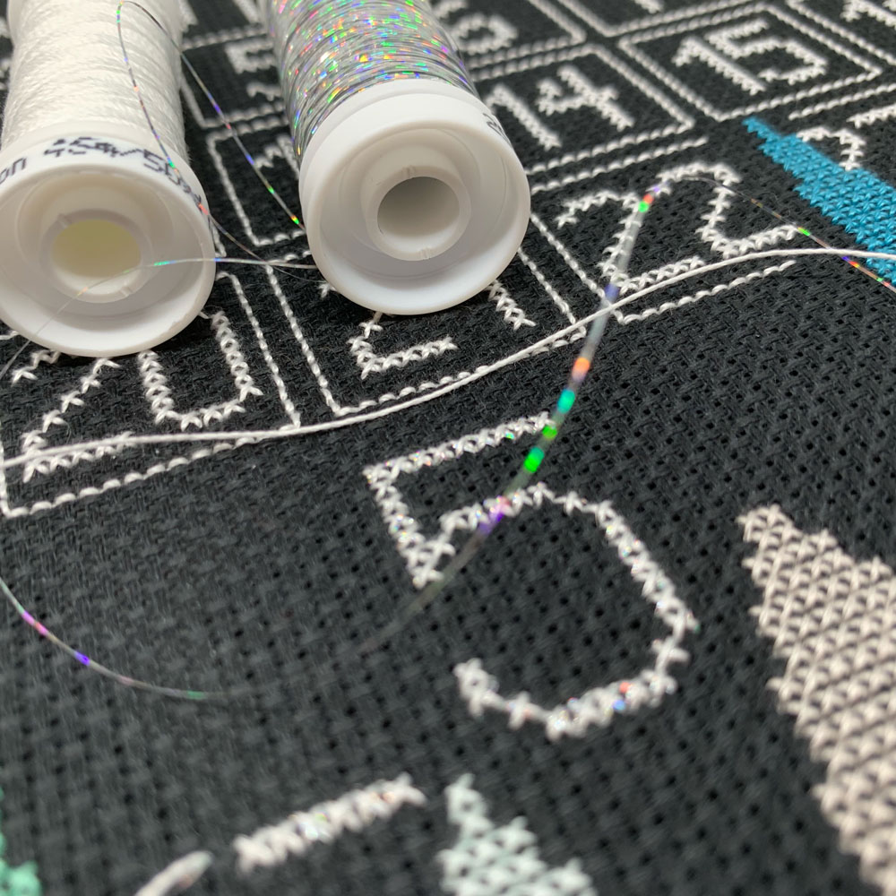 cross-stitch calendar metallic options