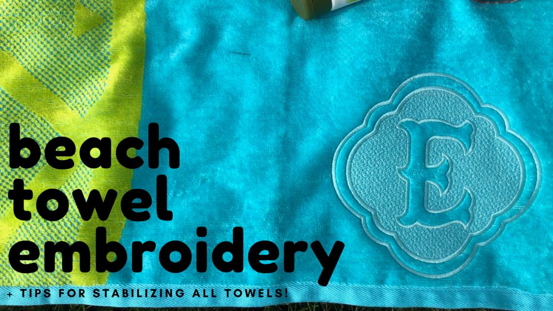 beach towel embroidery