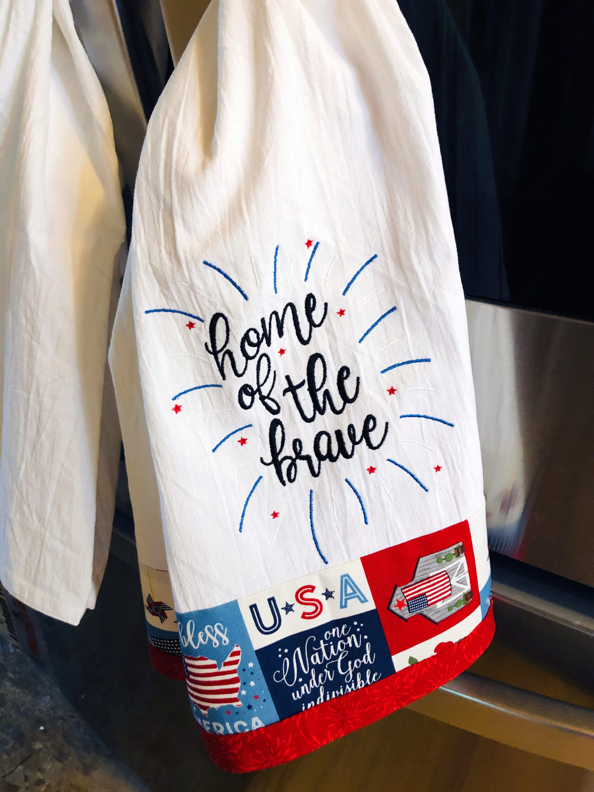home of the brave towel_hanging