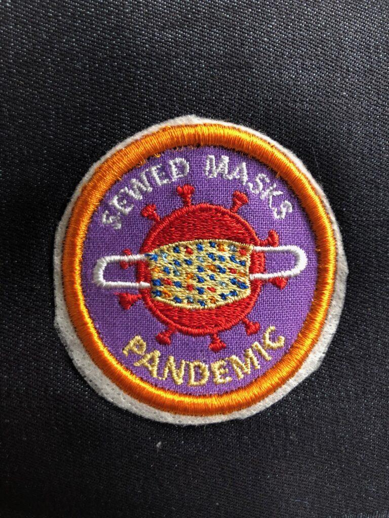 pandemic patch on denim
