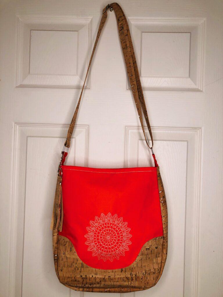 metallic thread bag