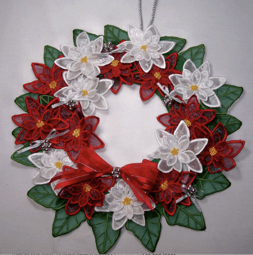 holiday sewing projects poinsettia wreath