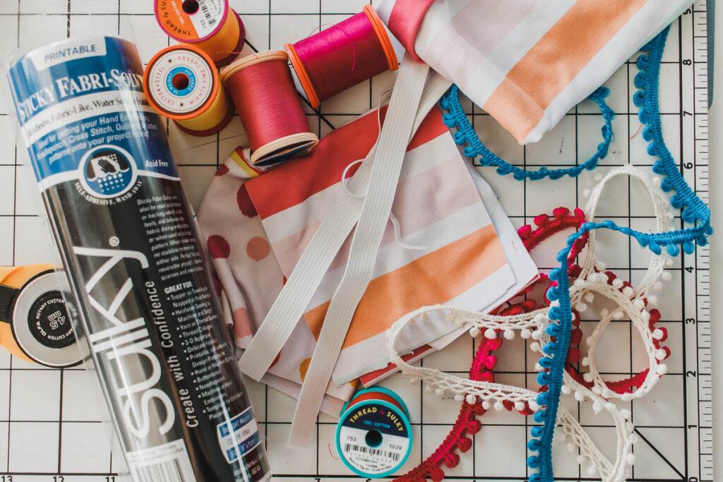 sew a scrunchie supplies