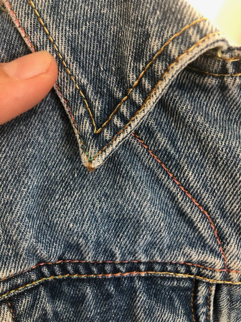 denim topstitching with Blendables