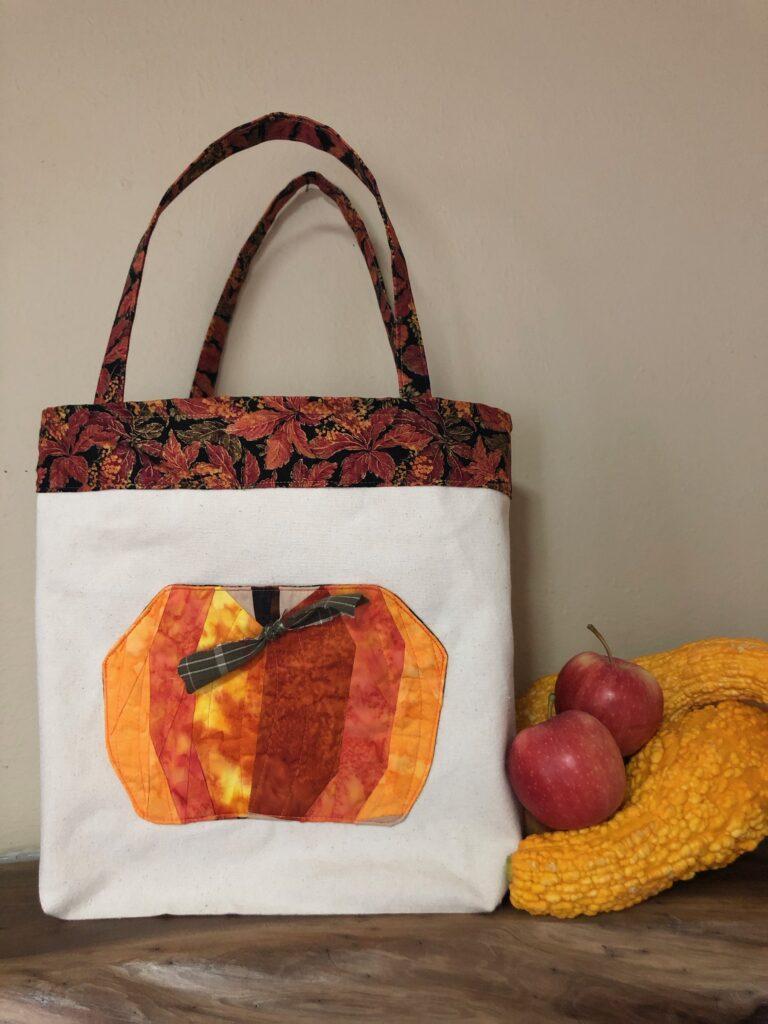 paper pieced pumpkin project