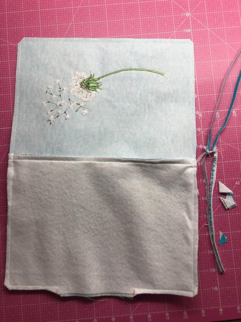 trim zipper pouch edges
