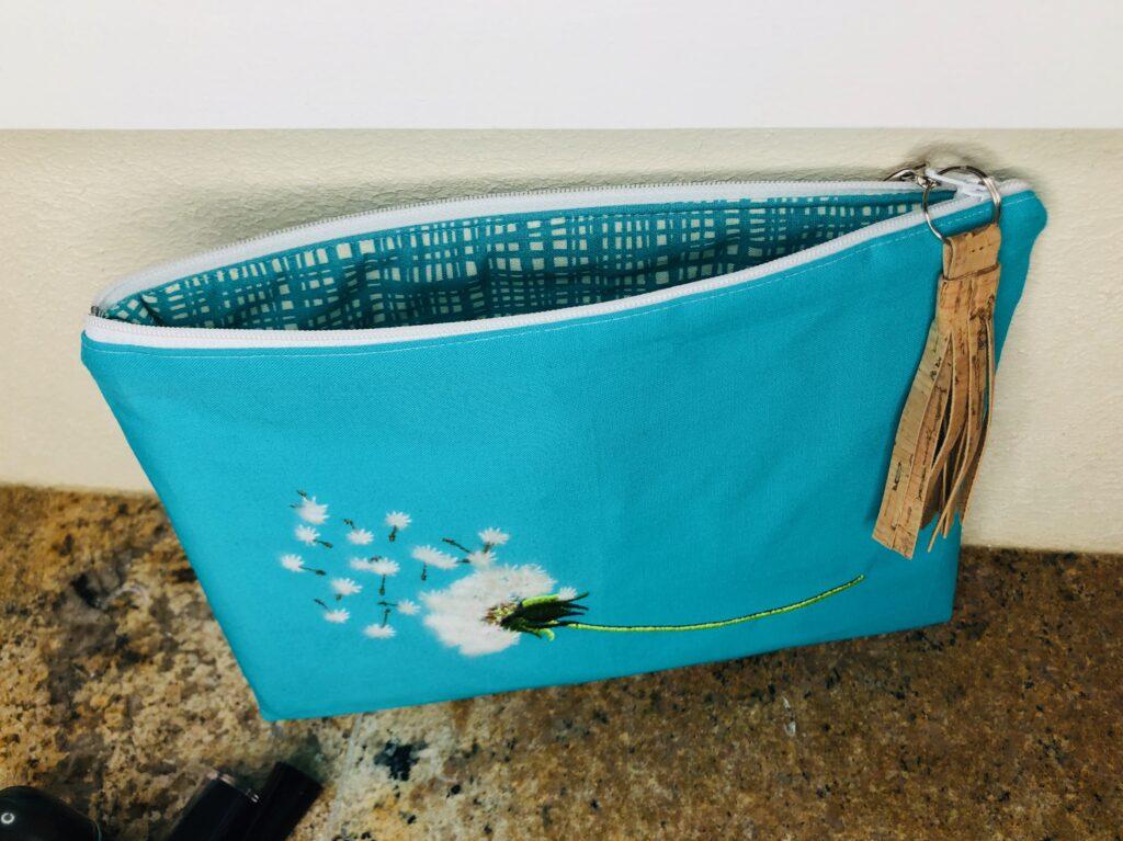 open zipper pouch