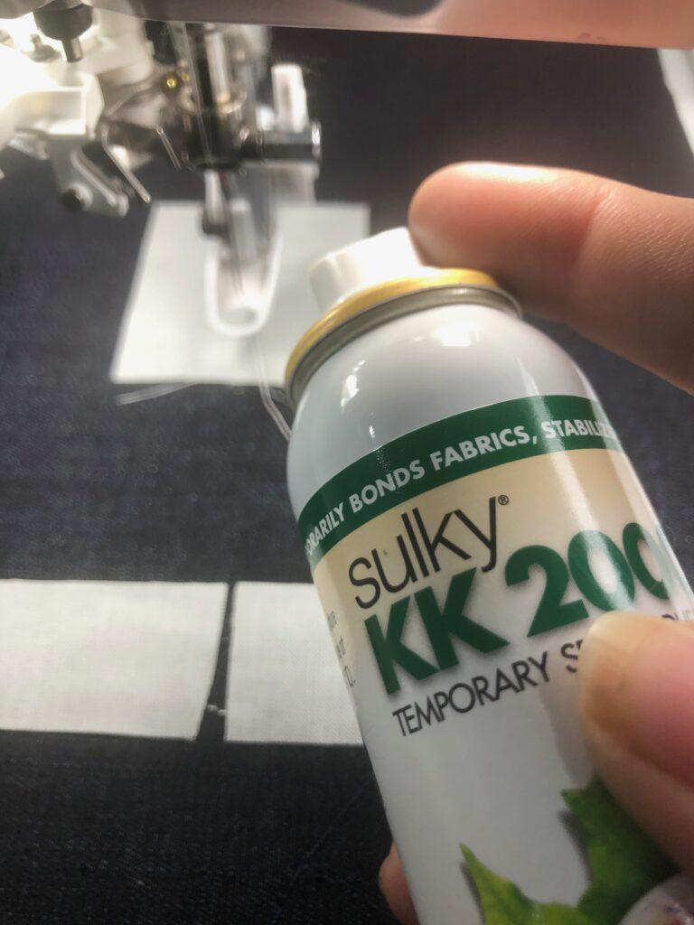 KK 2000 helps when adding applique pieces