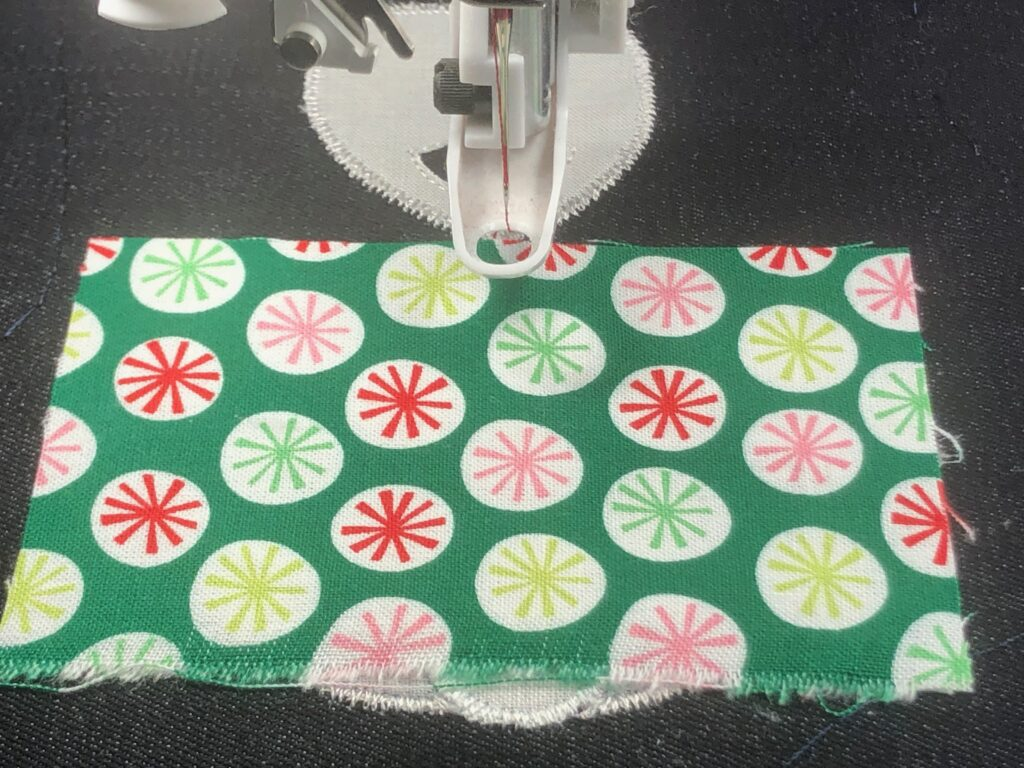 embroidered applique with fun print