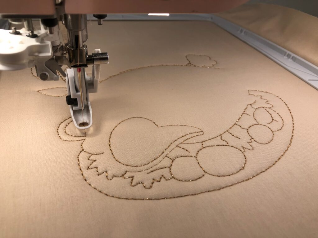 thanksgiving placemats embroidery