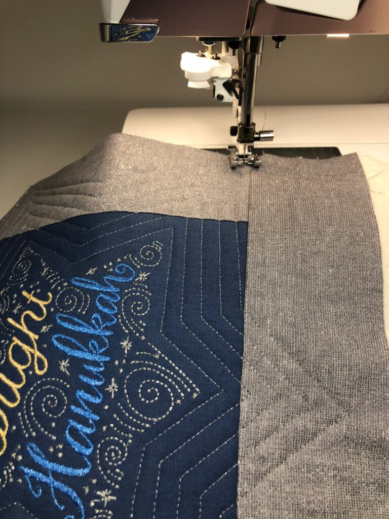 quilting the wall hanging