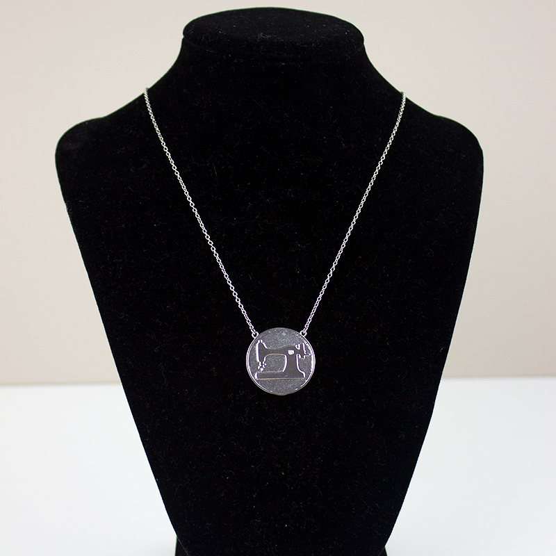 sewing machine necklace