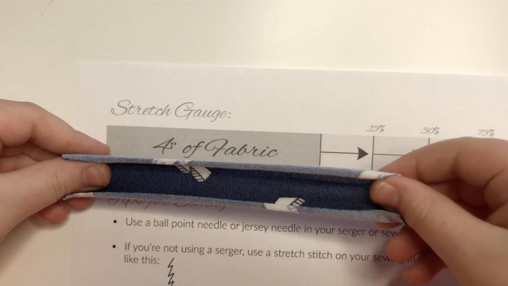 sewing stretch fabrics gauge