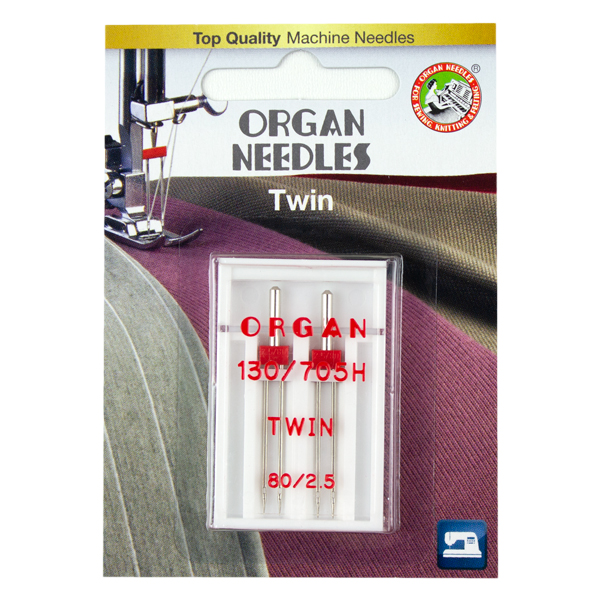 Twin Needle for stretch fabrics