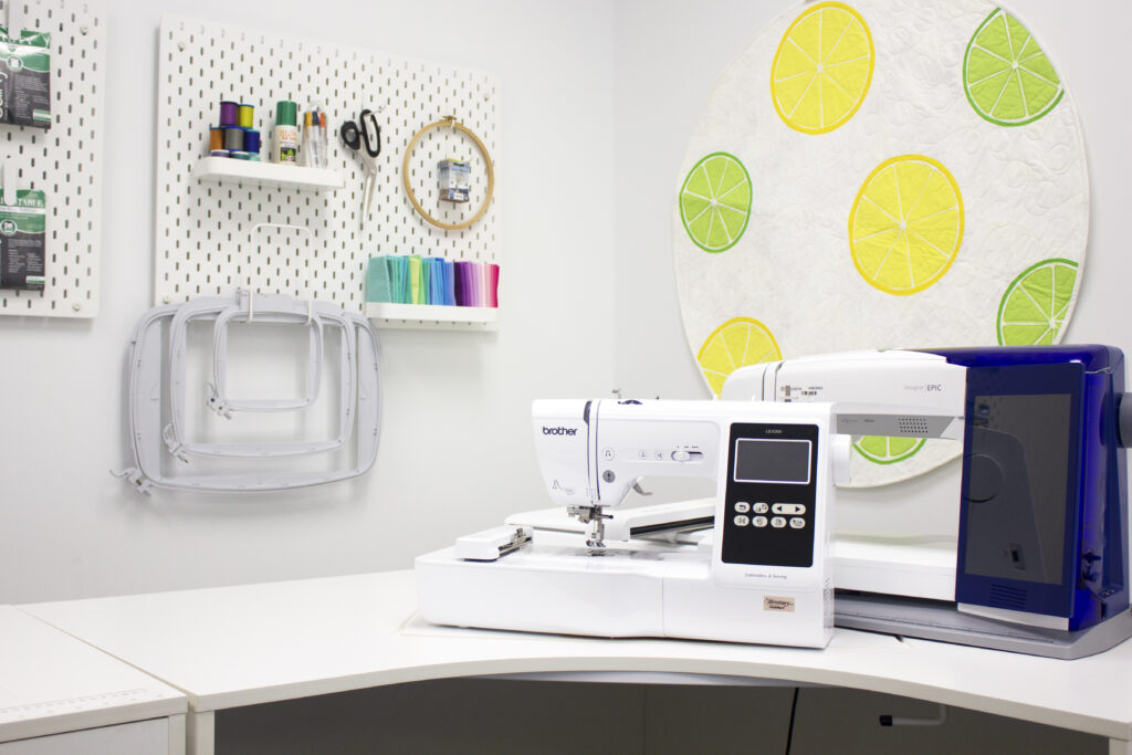 National Embroidery Month sewing studio