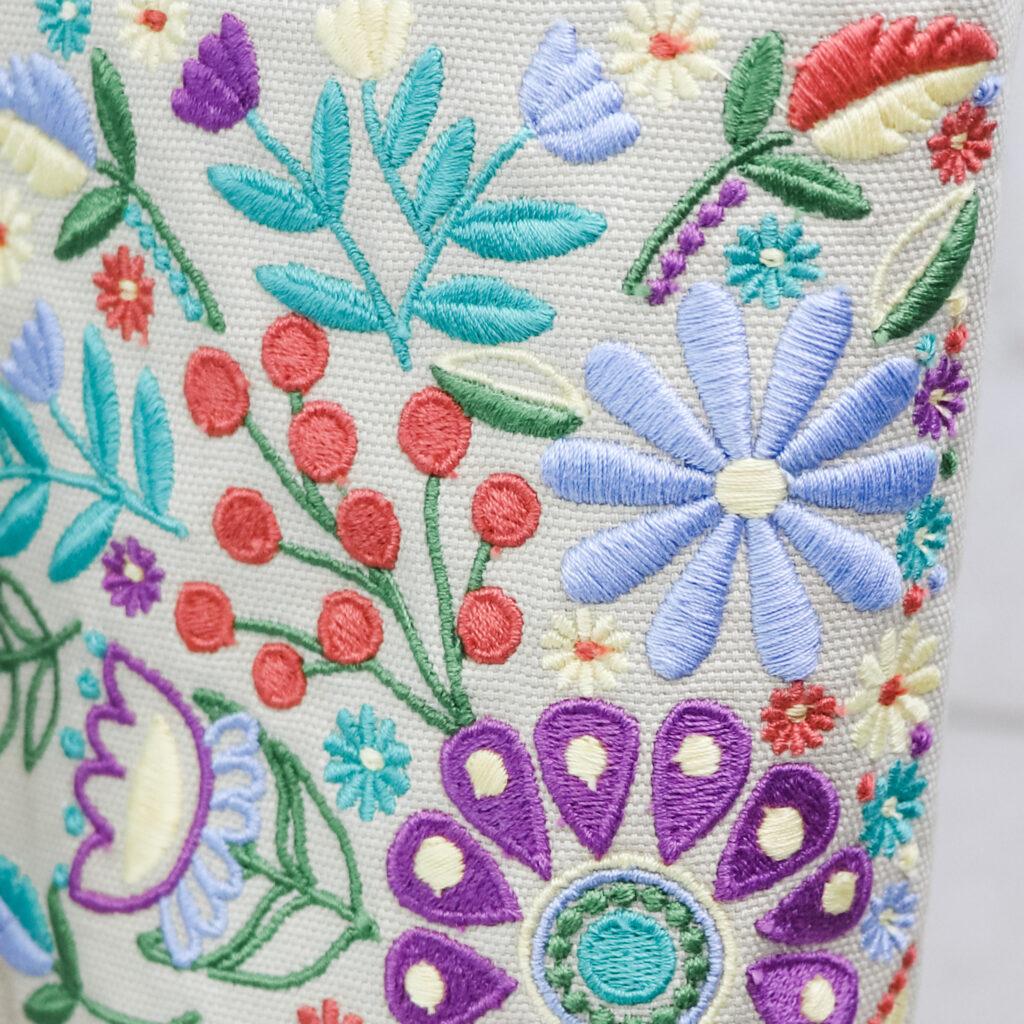 Bonnie Bag embroidery detail
