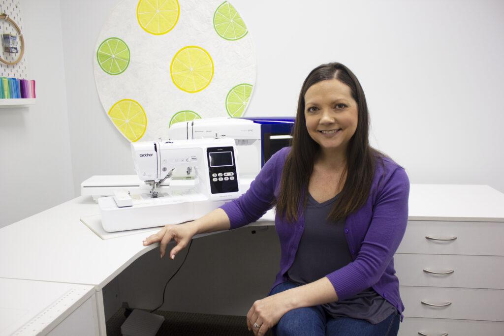 Ellen March instructor for Bonnie Bag Videocast