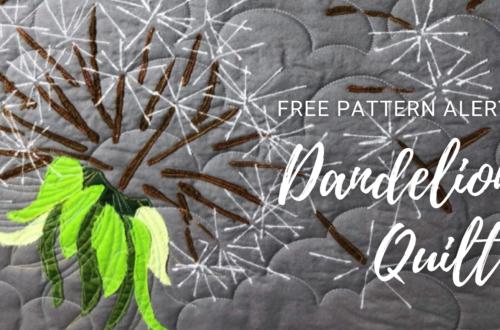 free Dandelion Quilt pattern