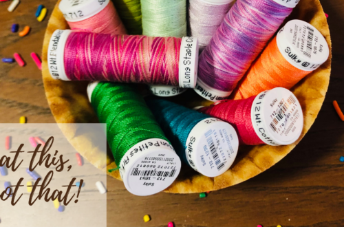 a new diet for quilters and sewists