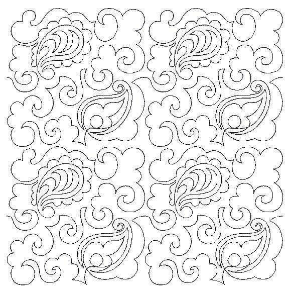 end to end quilting design freebie