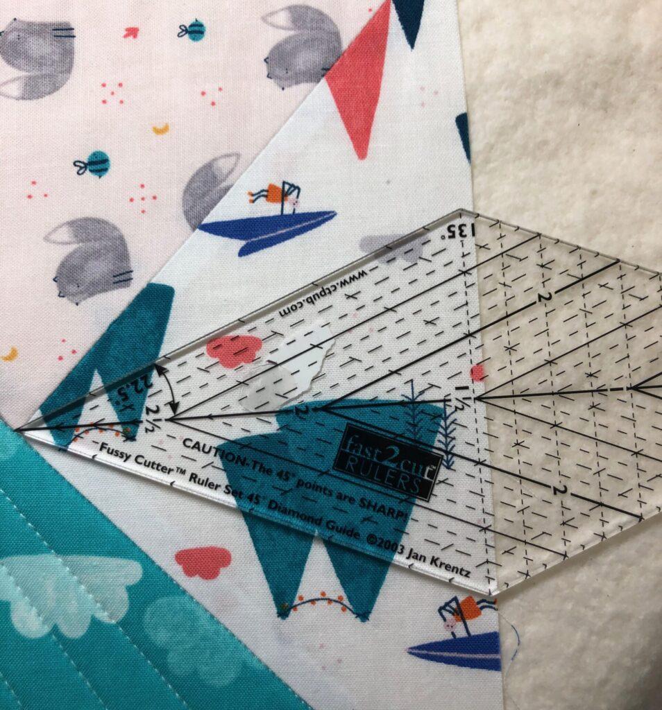 using a quilt ruler