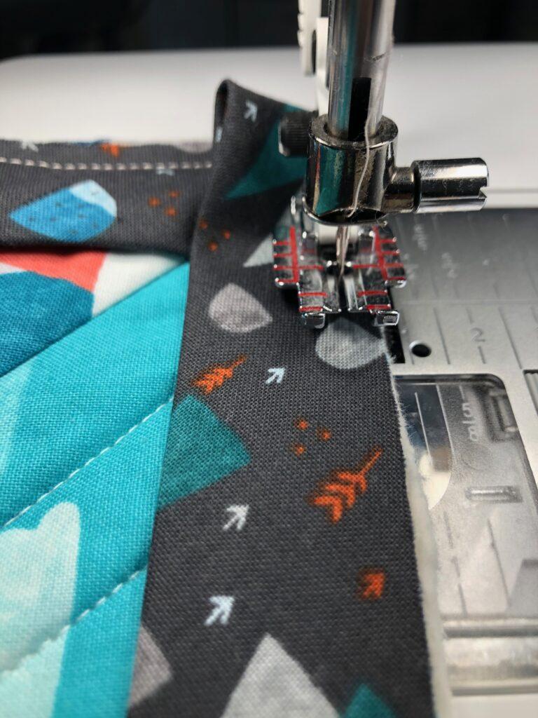 binding along the corner